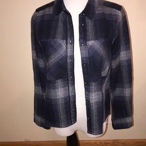 Topshop 4 plaid button up shirt blouse